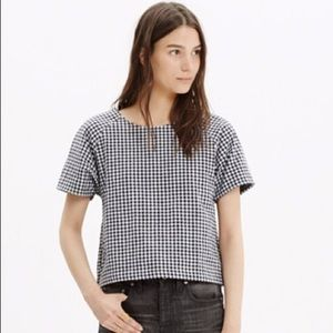 Madewell Raglan Gingham Crop Top